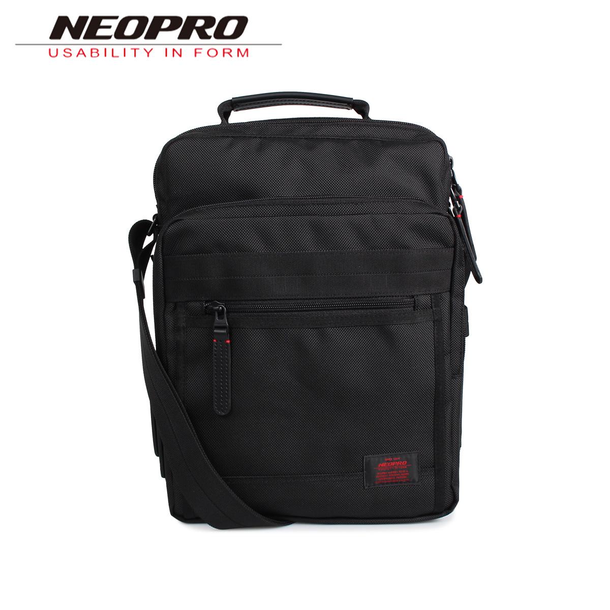 NEOPRO ネオプロ ショルダーバッグ メンズ RED ブラック 黒 2-024