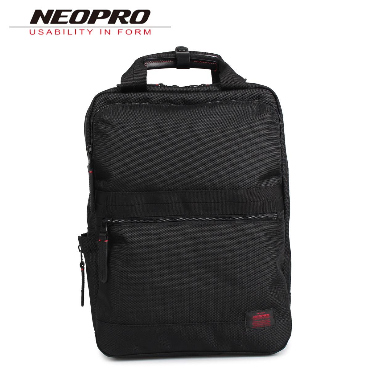 NEOPRO ネオプロ リュック バック バックパック メンズ RED ブラック 黒 2-037