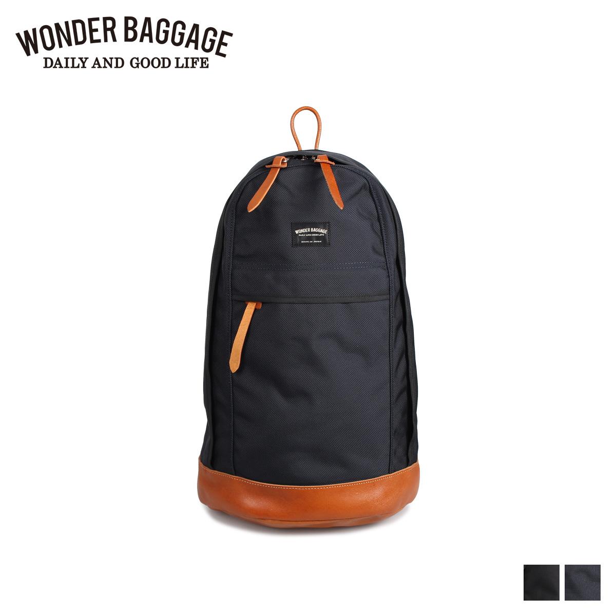 WONDER BAGGAGE ワンダーバゲージ リュック バッグ バックパック メンズ DATPACK ブラック ネイビー 黒 WB-G-001