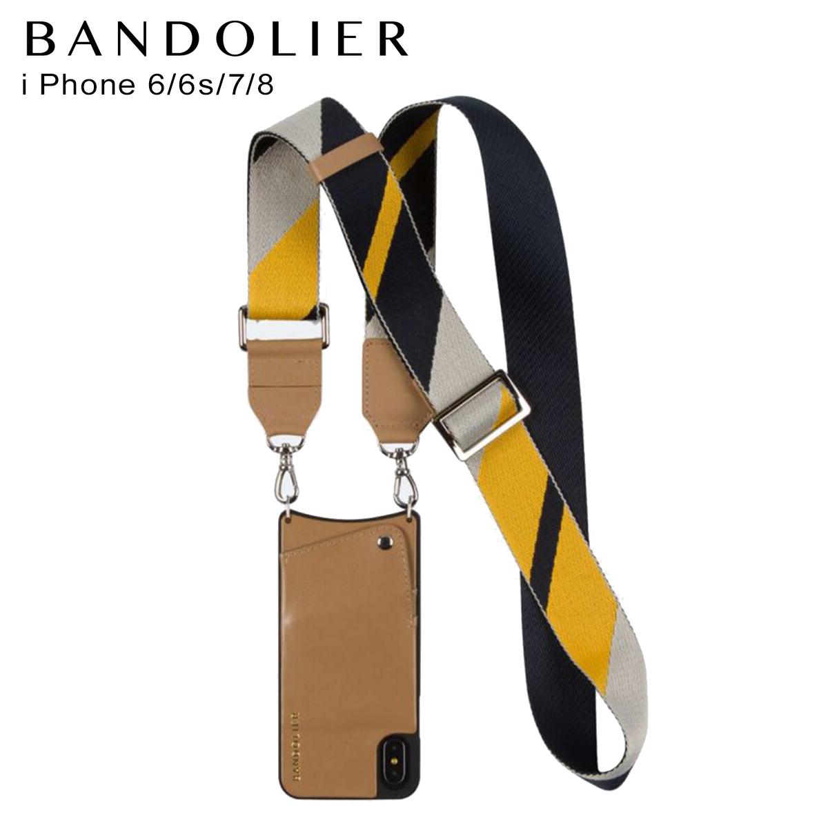 バンドリヤー BANDOLIER iPhone SE SE2 8 7 6s 6 ケース スマホ 携帯 アイフォン レディース BELLA TAN NAVY キャメル 10bel