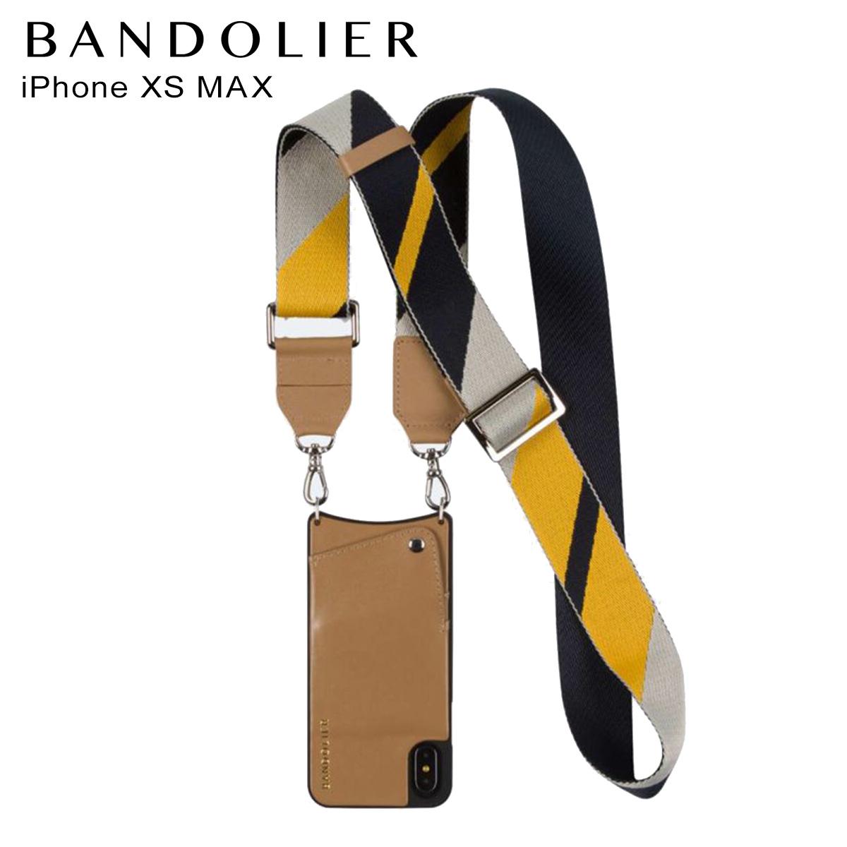 バンドリヤー BANDOLIER iPhone XS MAX ケース スマホ 携帯 レディース BELLA TAN NAVY キャメル 10bel