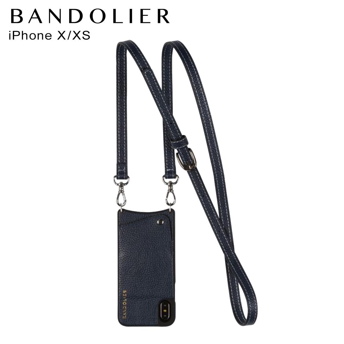 バンドリヤー BANDOLIER iPhoneXS X ケース スマホ 携帯 アイフォン レディース CASEY NAVY ネイビー 10cas