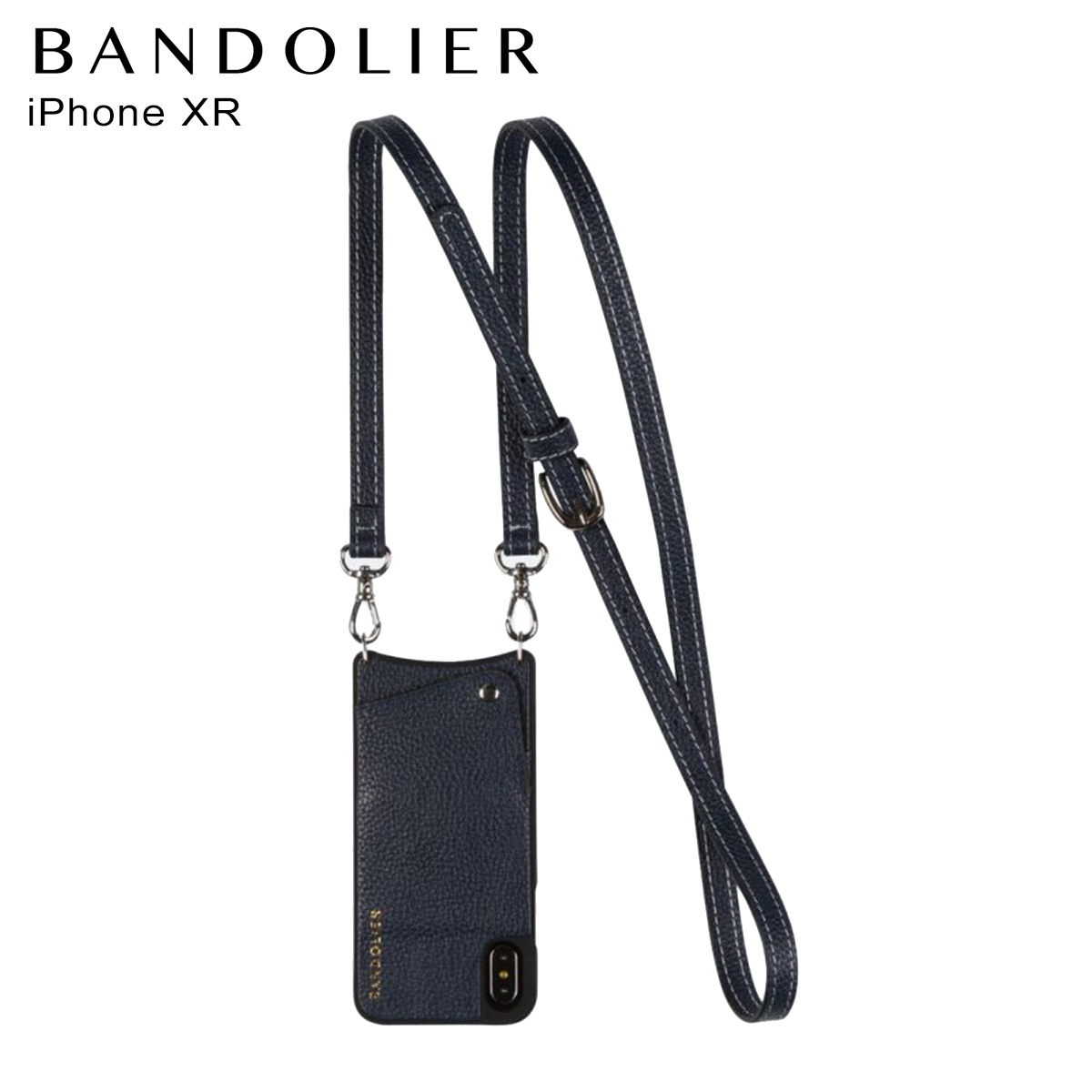 バンドリヤー BANDOLIER iPhone XR ケース スマホ 携帯 レディース CASEY NAVY ネイビー 10cas