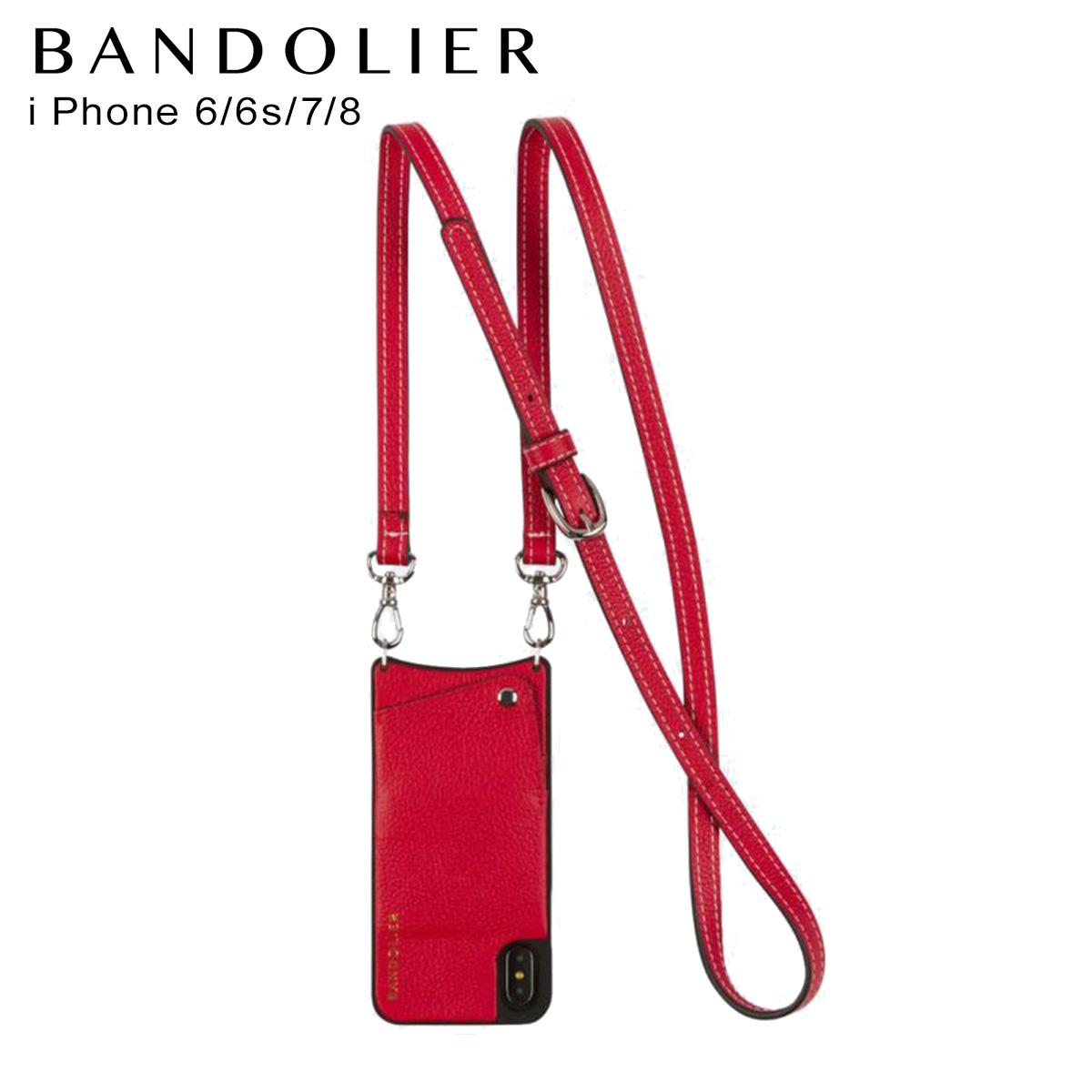 バンドリヤー BANDOLIER iPhone SE 8 7 6s 6 ケース スマホ 携帯 アイフォン レディース CASEY RED レッド 10cas