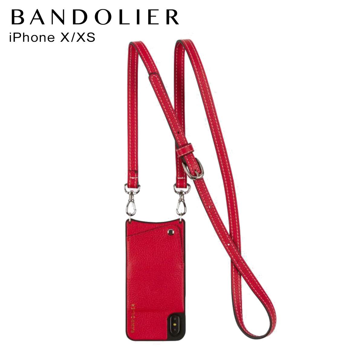 バンドリヤー BANDOLIER iPhoneXS X ケース スマホ 携帯 アイフォン レディース CASEY RED レッド 10cas