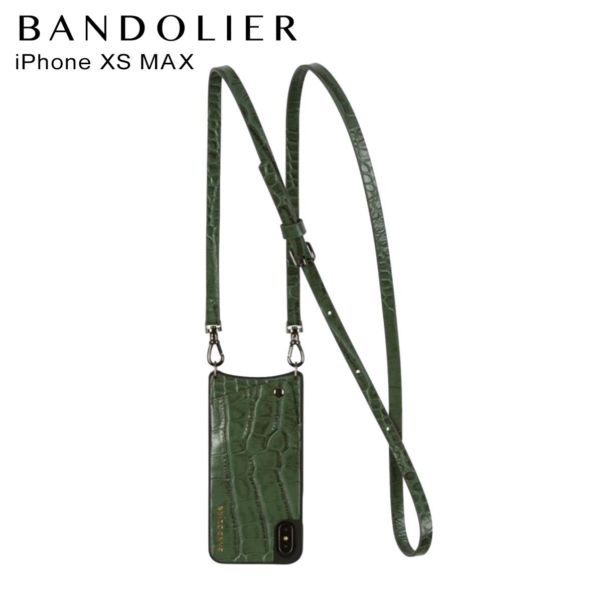 バンドリヤー BANDOLIER iPhone XS MAX ケース スマホ 携帯 レディース EMMA CROC GREEN グリーン 10emm