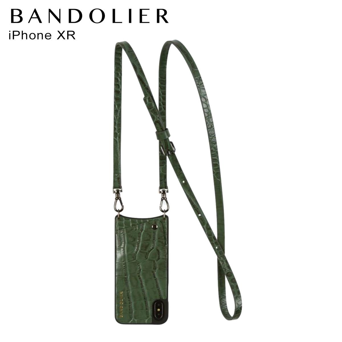 バンドリヤー BANDOLIER iPhone XR ケース スマホ 携帯 レディース EMMA CROC GREEN グリーン 10emm