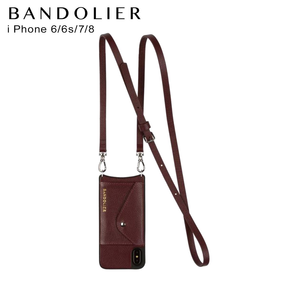 バンドリヤー BANDOLIER iPhone SE 8 7 6s 6 ケース スマホ 携帯 アイフォン レディース DONNA SIDE SLOT WINE ワイン 14don
