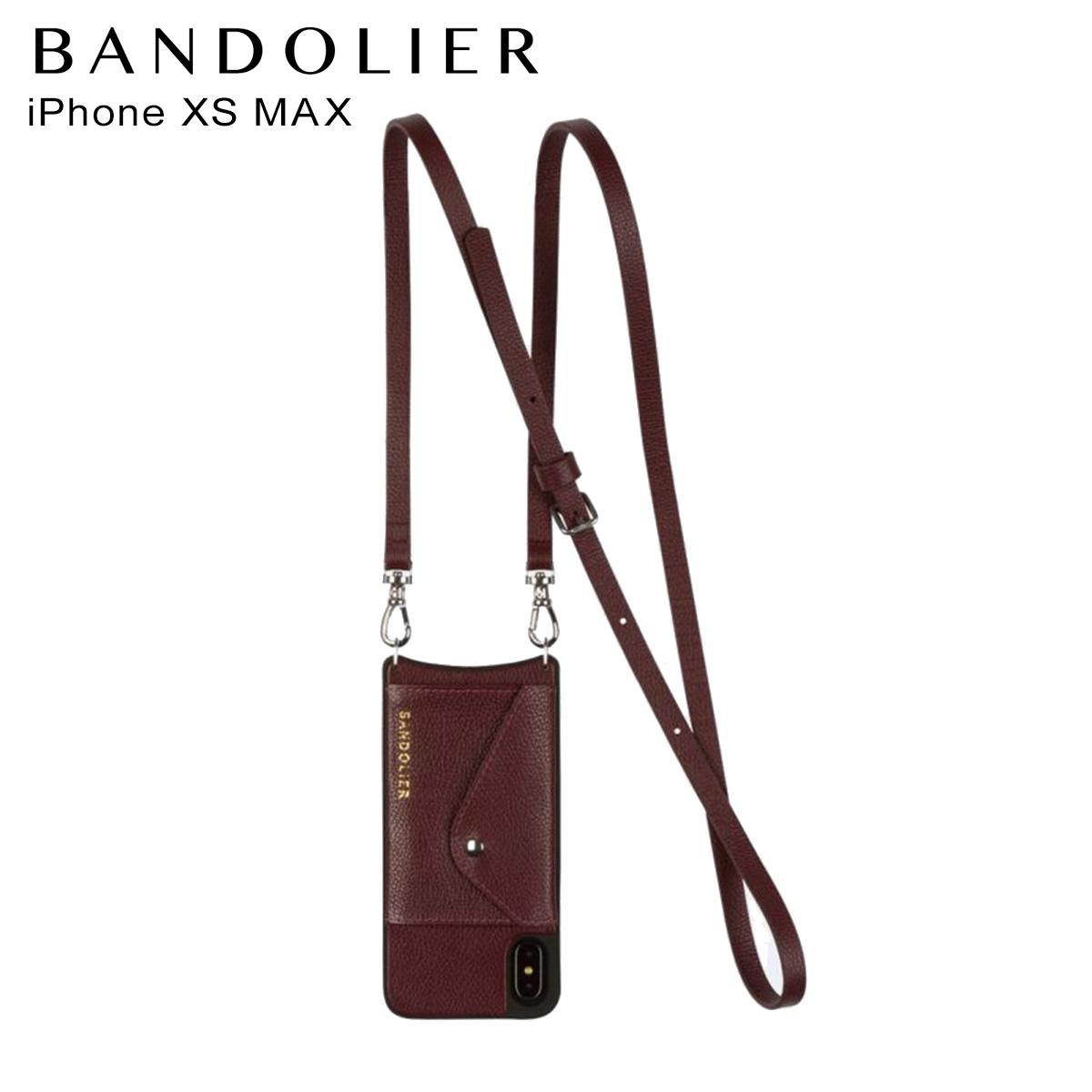 バンドリヤー BANDOLIER iPhone XS MAX ケース スマホ 携帯 レディース DONNA SIDE SLOT WINE ワイン 14don
