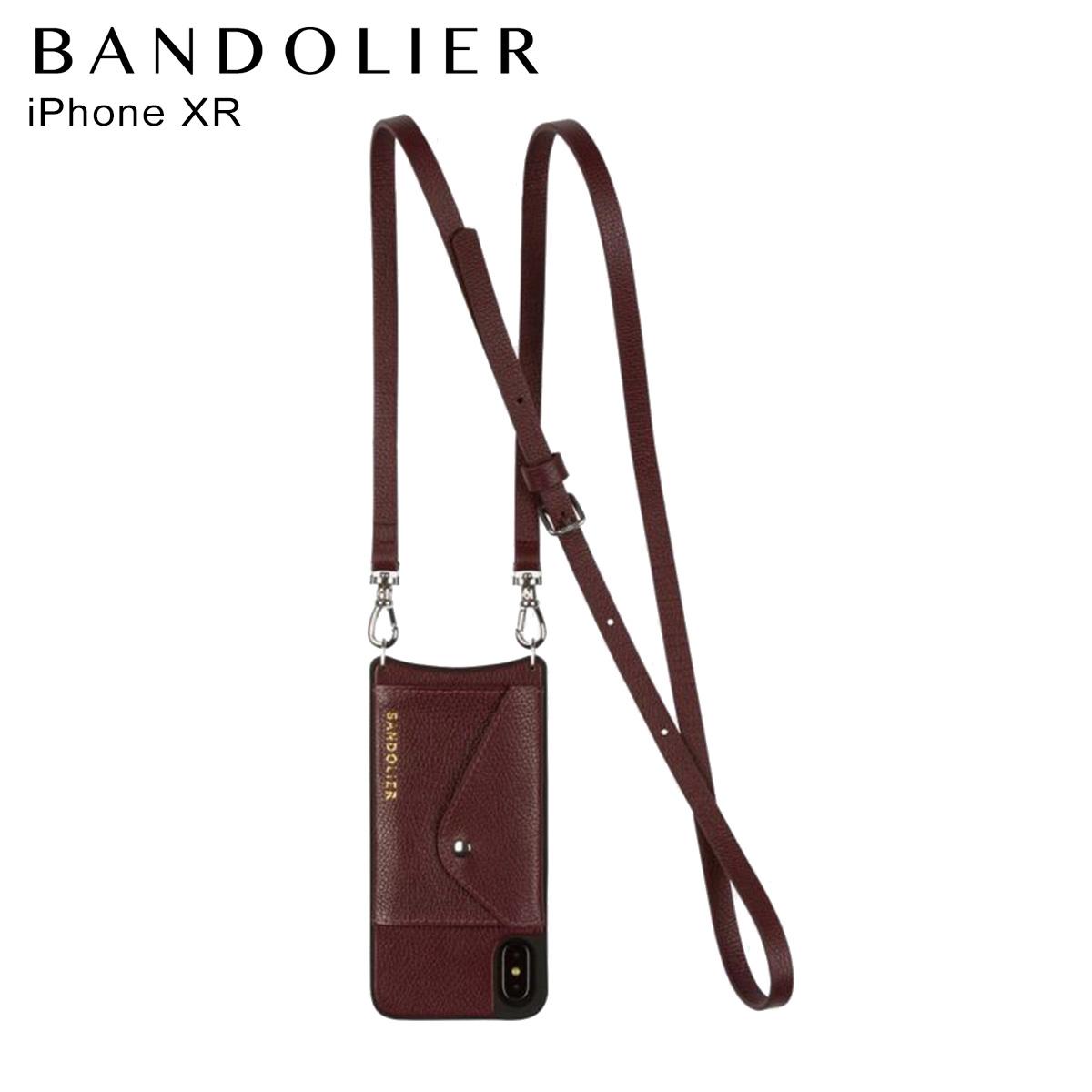バンドリヤー BANDOLIER iPhone XR ケース スマホ 携帯 レディース DONNA SIDE SLOT WINE ワイン 14don