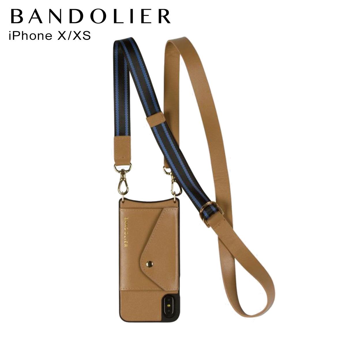 バンドリヤー BANDOLIER iPhoneXS X ケース スマホ 携帯 アイフォン レディース OLIVIA SIDE SLOT TAN BLUE キャメル 14oli [12/25 新入荷]