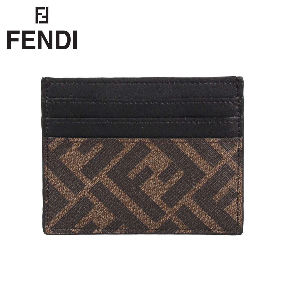FENDI フェンディ パスケース カードケース ID 定期入れ メンズ PORTACARTE CLASSICO ブラウン 7M0164