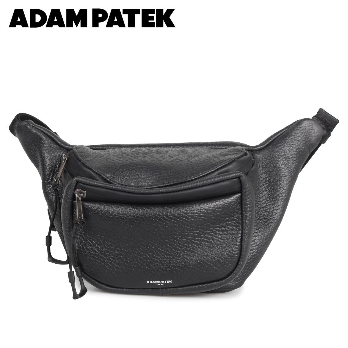 ADAM PATEK アダムパテック バッグ ウエストバッグ ボディバッグ メンズ レディース BALLARD ブラック 黒 AMPK-B064