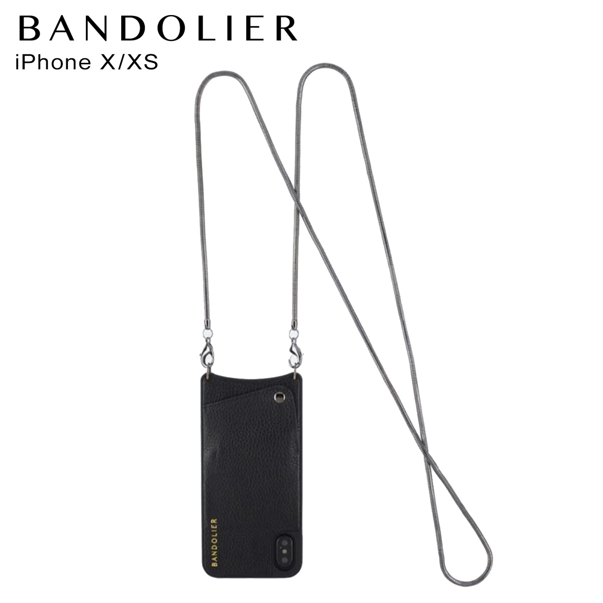 バンドリヤー BANDOLIER iPhoneXS X ケース スマホ 携帯 アイフォン レディース BELINDA PEWTER ブラック 黒 2003