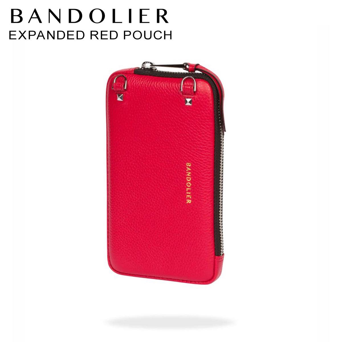バンドリヤー BANDOLIER ポーチ スマホ 携帯 レディース EXPANDED RED POUCH レッド 21cas