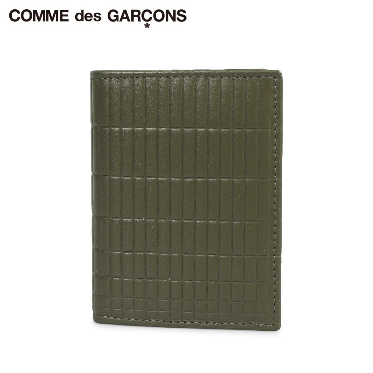 COMME des GARCONS コムデギャルソン 財布 二つ折り メンズ レディース BRICK LINE WALLET カーキ SA0641BK