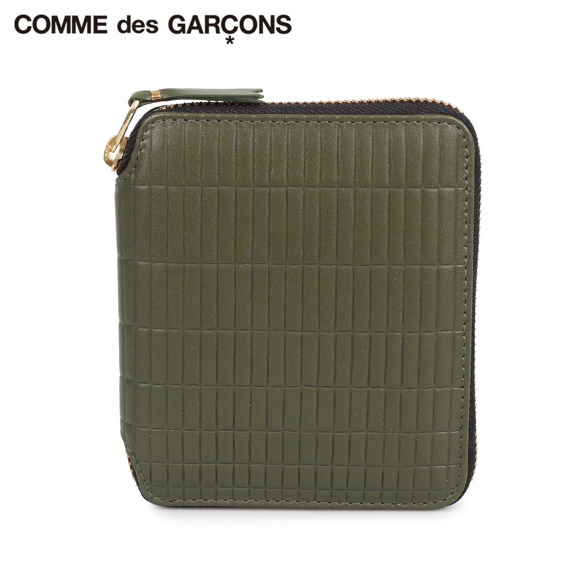COMME des GARCONS コムデギャルソン 財布 二つ折り メンズ レディース BRICK WALLET カーキ SA2100BK