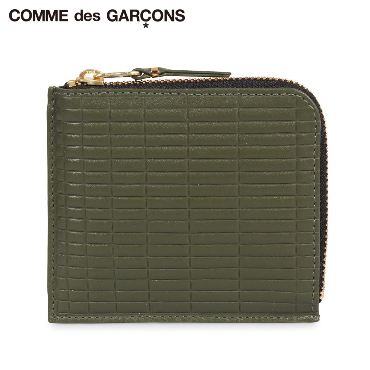 COMME des GARCONS コムデギャルソン 財布 ミニ財布 メンズ レディース BRICK WALLET カーキ SA3100BK