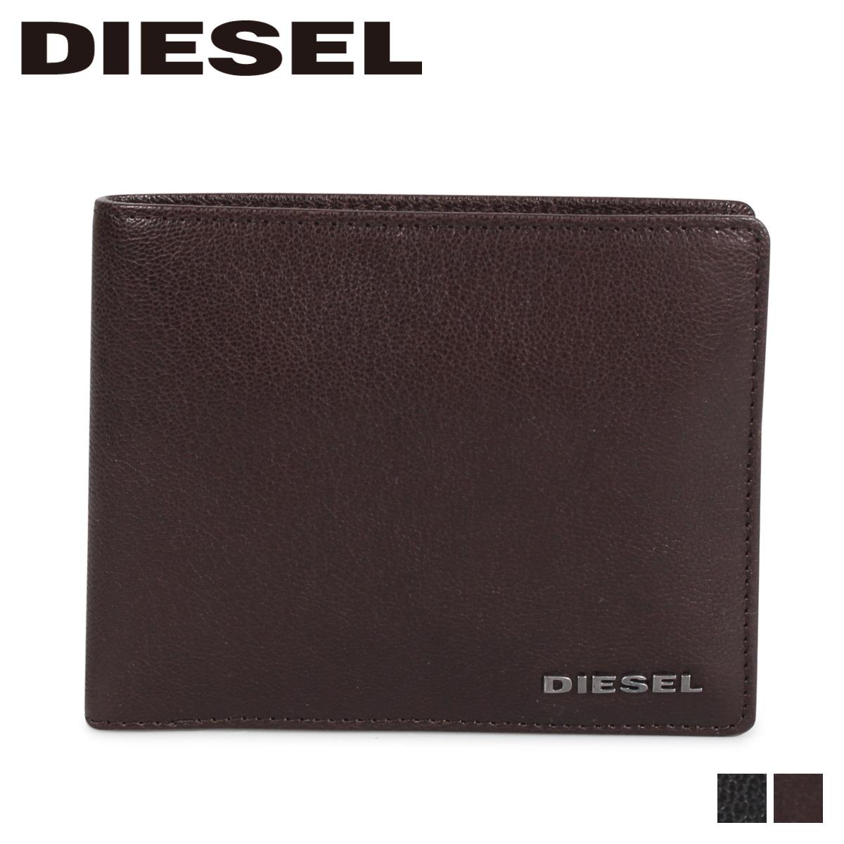 DIESEL ディーゼル 財布 二つ折り メンズ JEM-J HIRESH ブラック ブラウン 黒 X03926-PR271