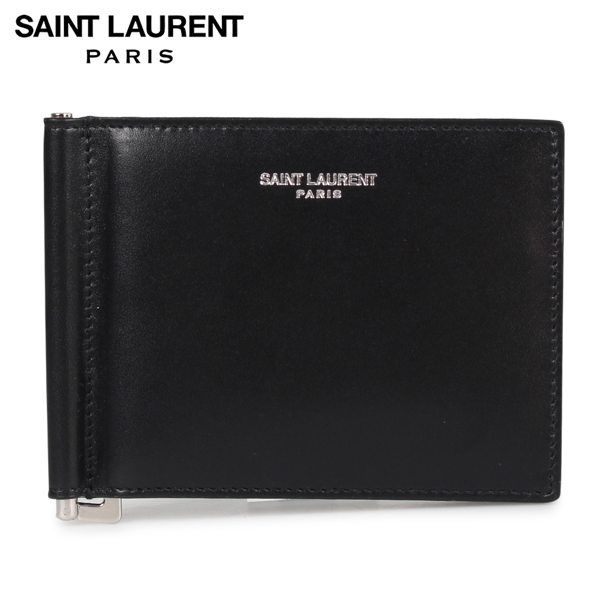 SAINT LAURENT PARIS サンローラン パリ 財布 二つ折り マネークリップ メンズ BILL CLIP WALLET ブラック 黒 3780050U90N