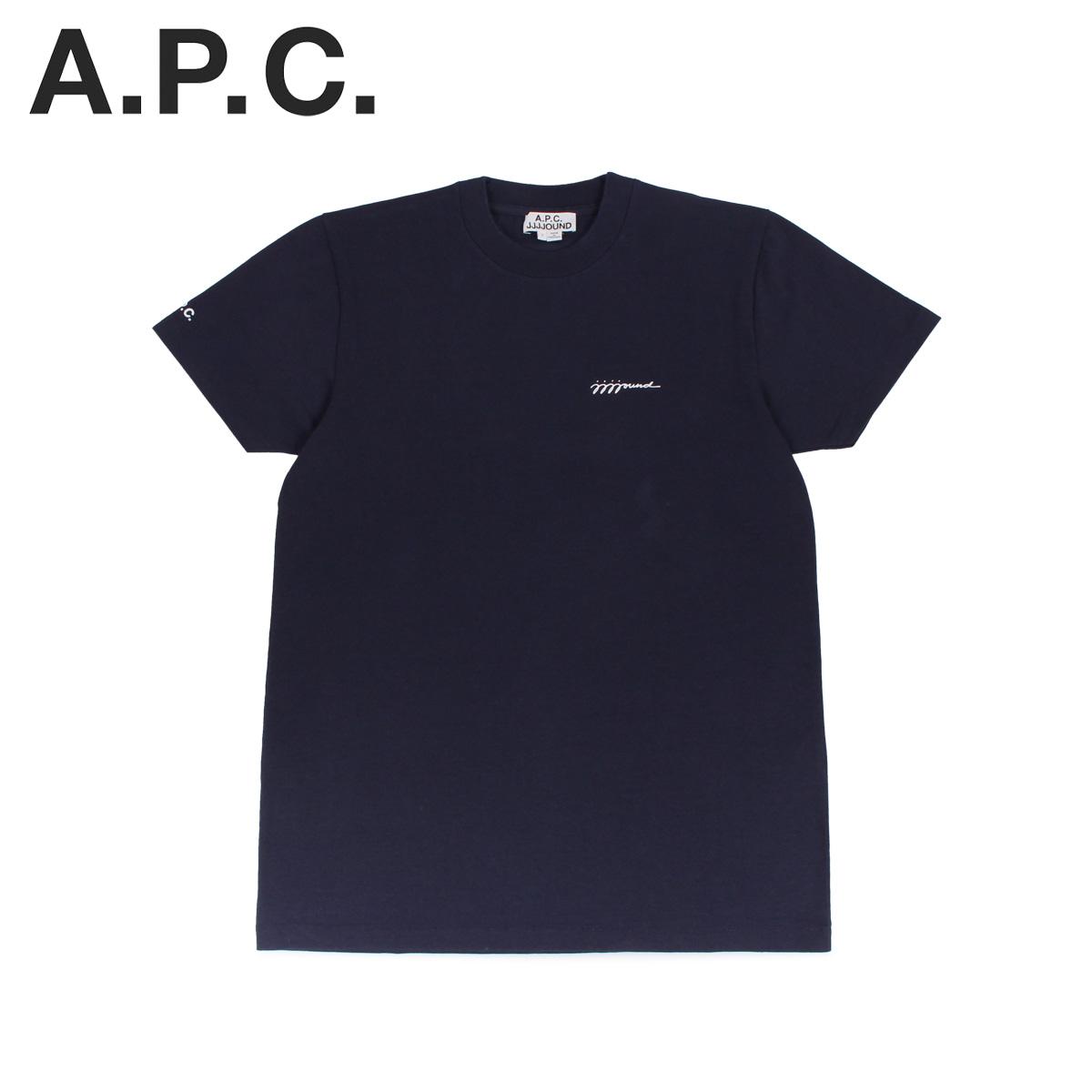 アーペーセー ジョウンド A.P.C. JJJJound Tシャツ 半袖 ロゴ カットソー メンズ コラボ T-SHIRT JJJJOUND ネイビー COEAV-H26851