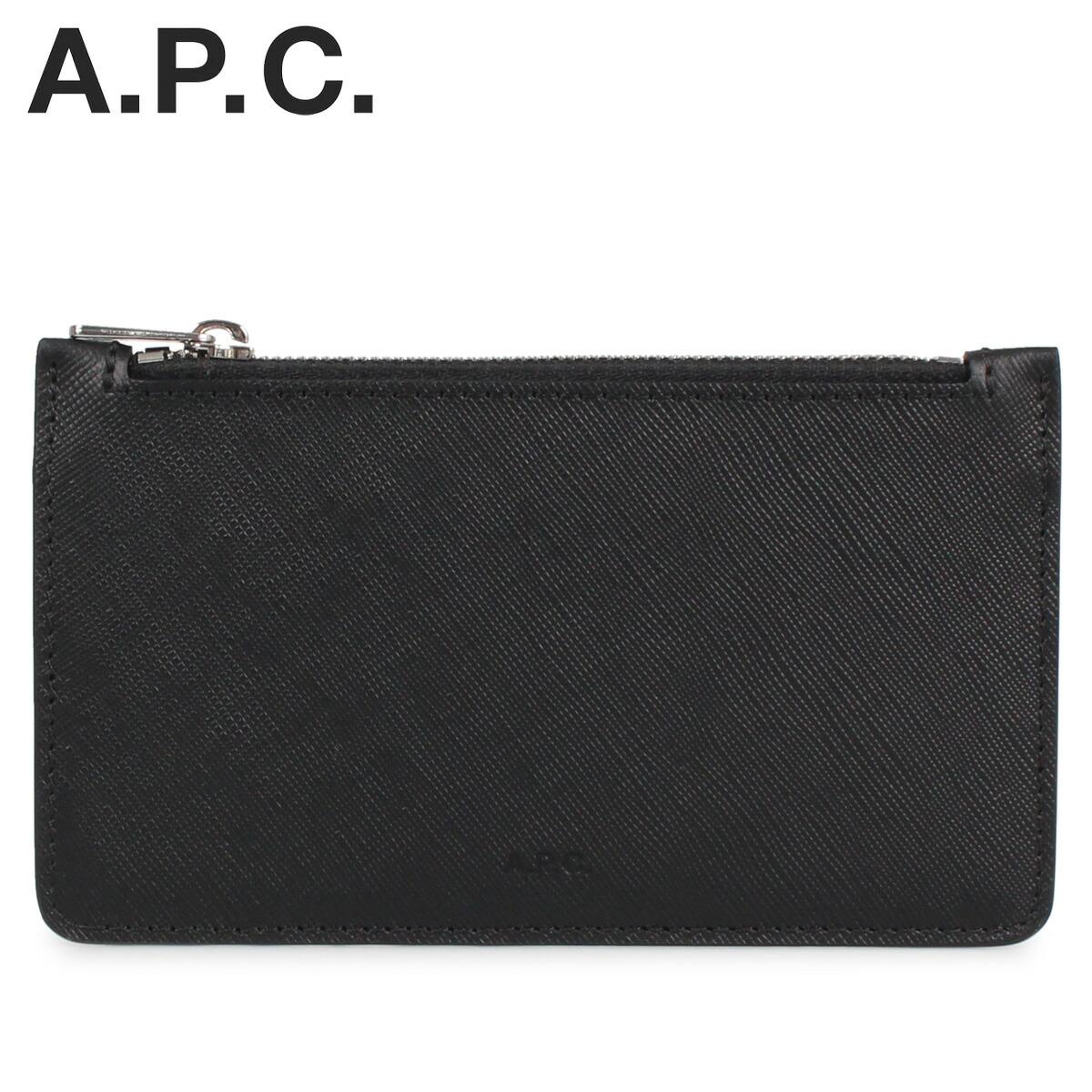 A.P.C. アーペーセー パスケース カードケース ID 定期入れ メンズ PORTE-CARTES WALTER ブラック 黒 PXBJQ-H63205