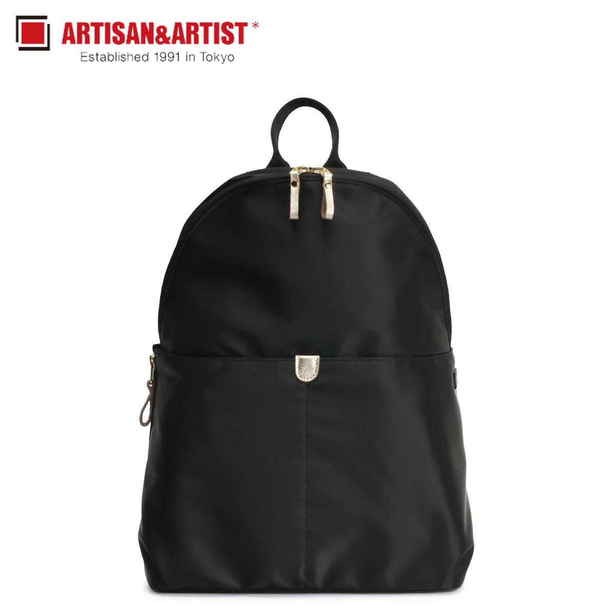 ARTISAN&ARTIST アルティザン&アーティスト リュック バッグ バックパック レディース NEW SLIM ブラック 黒 8WB-NS01