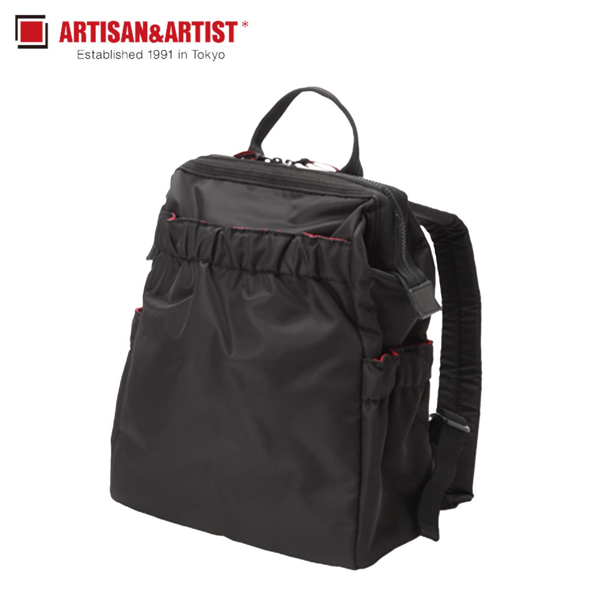 ARTISAN&ARTIST アルティザン&アーティスト リュック バッグ バックパック レディース CLASP STANDARD ブラック 黒 KG2-704