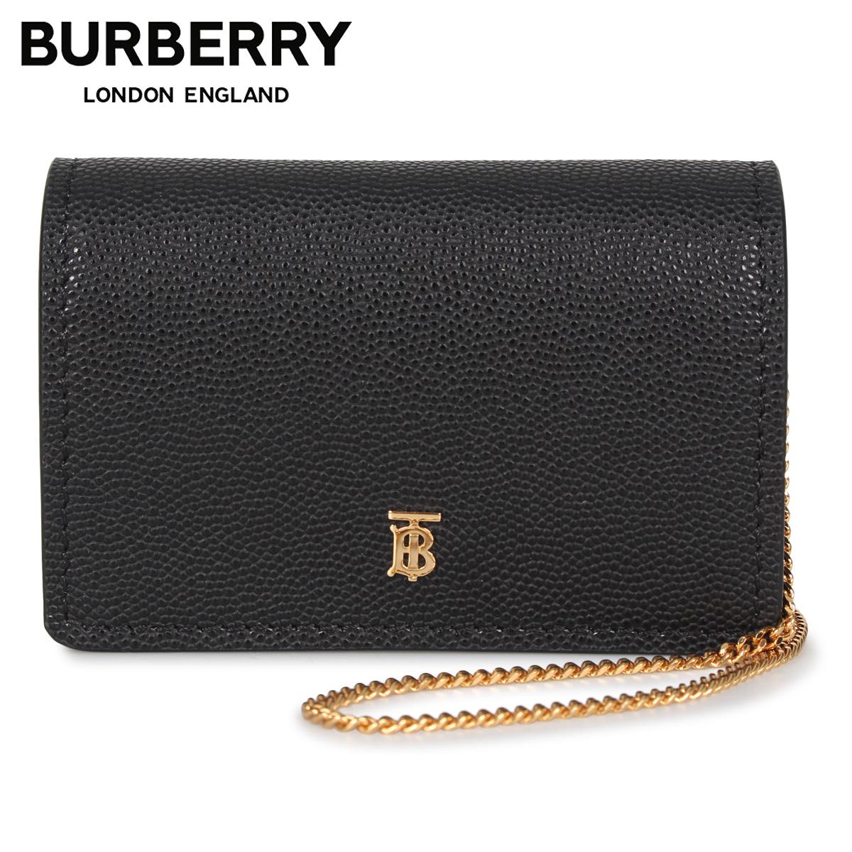 BURBERRY バーバリー カードケース ショルダー レディース 本革 CARD CASE ブラック 黒 8018968