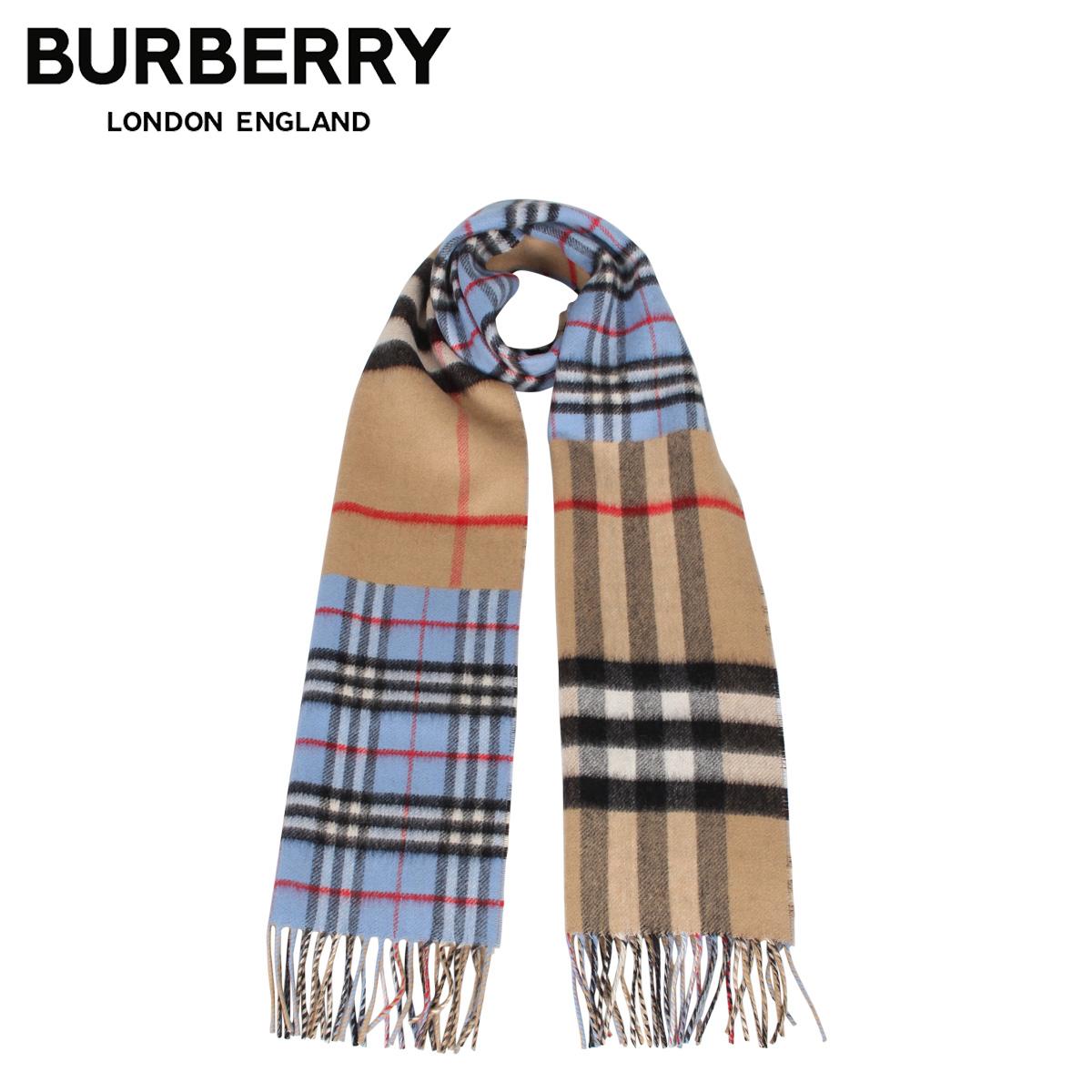 BURBERRY バーバリー マフラー スカーフ メンズ レディース チェック カシミア MUFFLER ブルー 8022478