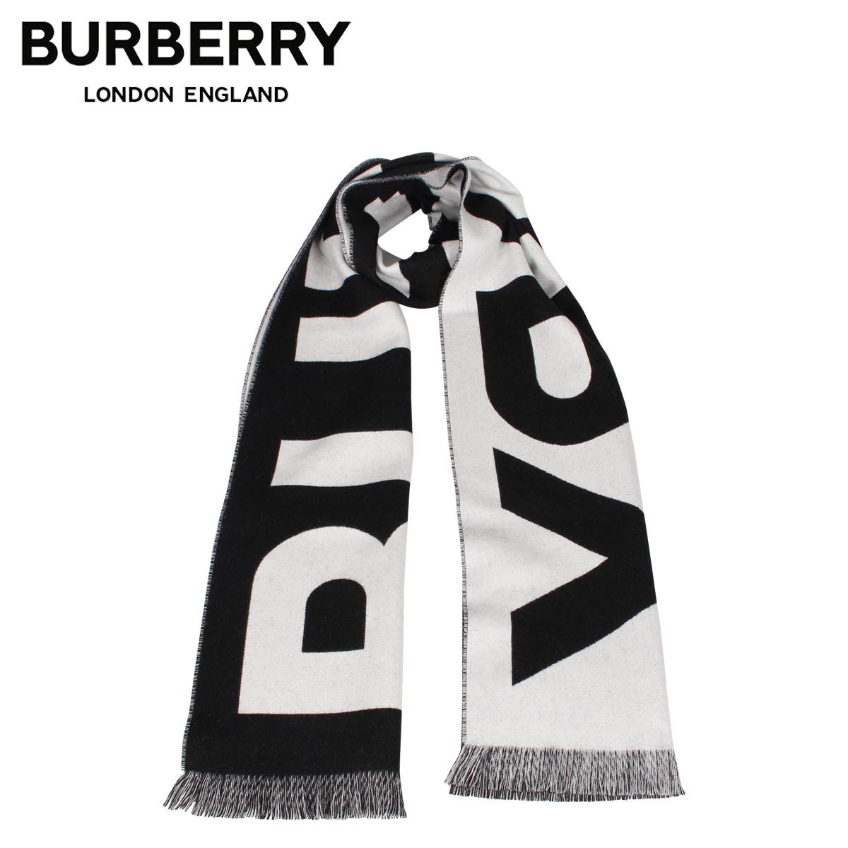 BURBERRY バーバリー マフラー スカーフ メンズ レディース ウール シルク MUFFLER ブラック 黒 8025557