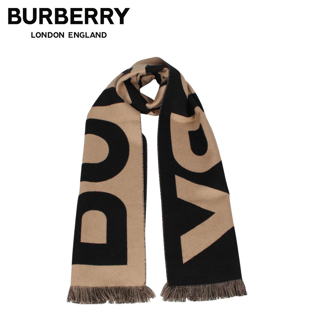 BURBERRY バーバリー マフラー スカーフ メンズ レディース ウール シルク MUFFLER ブラウン 8025583