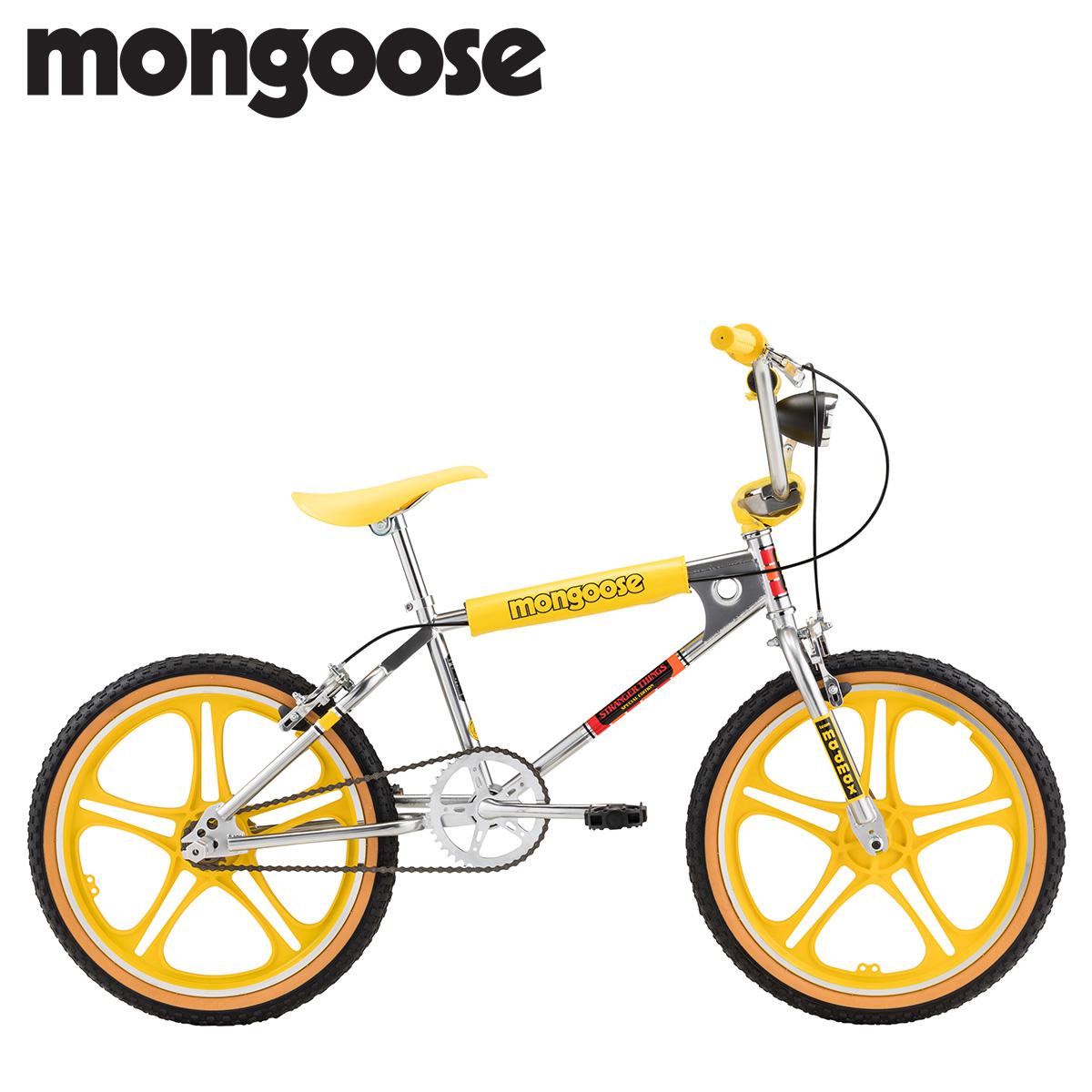 マングース Mongoose ストレンジャー シングス マックス BMX 自転車 20インチ 子供用 キッズ ストリート フリースタイル STRANGER THINGS MAX イエロー R0995WMDS [2/14 新入荷]