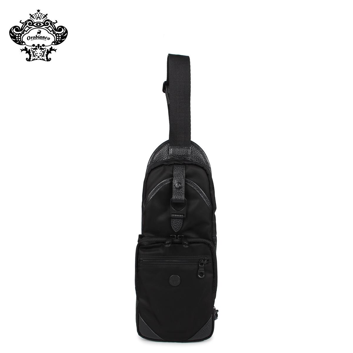 Orobianco オロビアンコ バッグ ボディバッグ ショルダーバッグ メンズ ANNIBALE-F01 ブラック 黒 92134