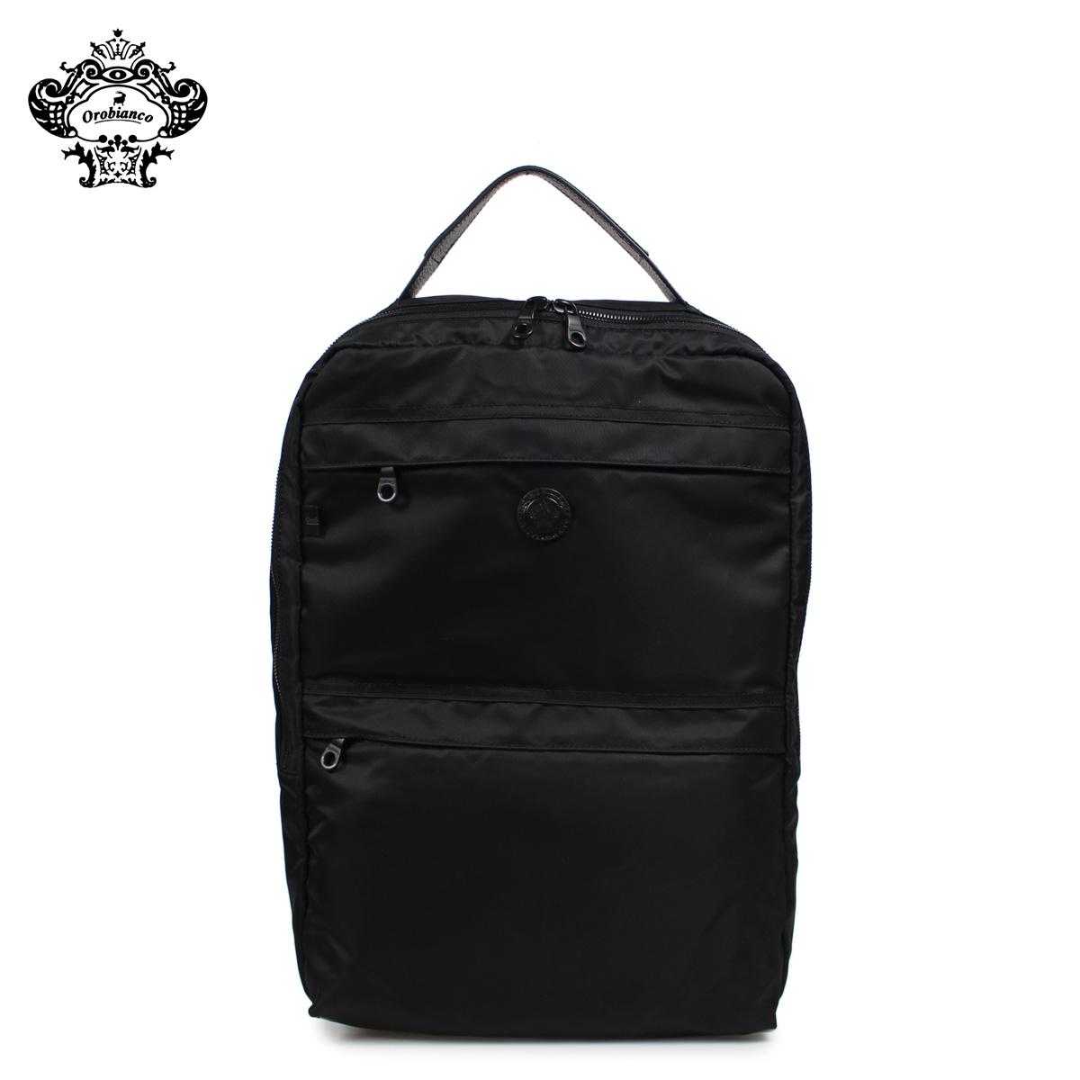 Orobianco オロビアンコ リュック バッグ バックパック メンズ PUNTUALE-G ALL BLACK ブラック 黒 92136