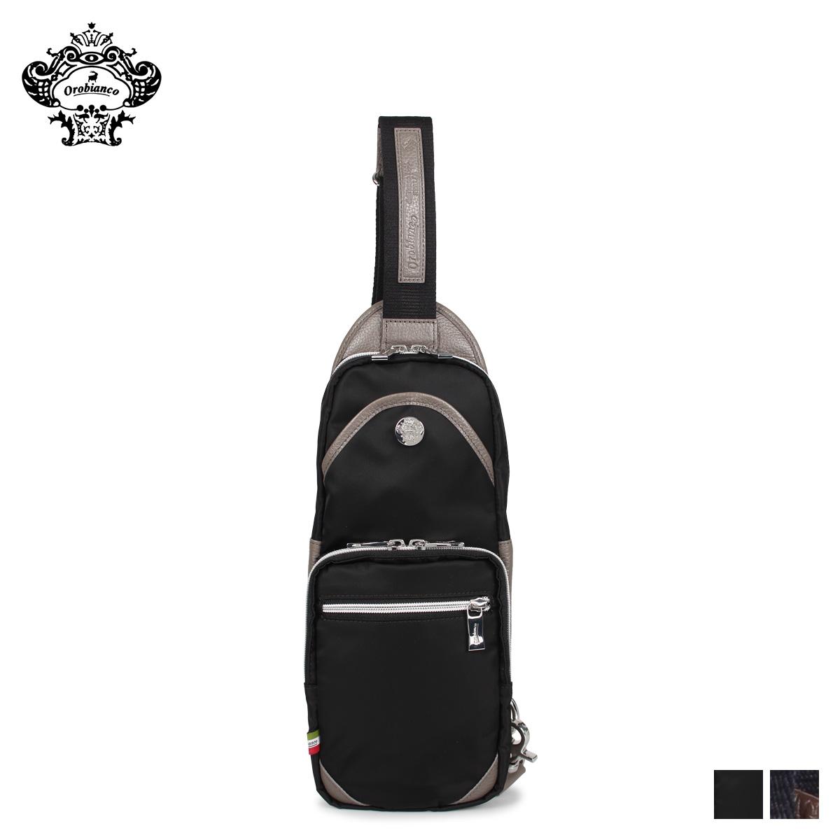 Orobianco オロビアンコ バッグ ボディバッグ ショルダーバッグ メンズ GIACOMIO 13-H ブラック ネイビー 黒 92162