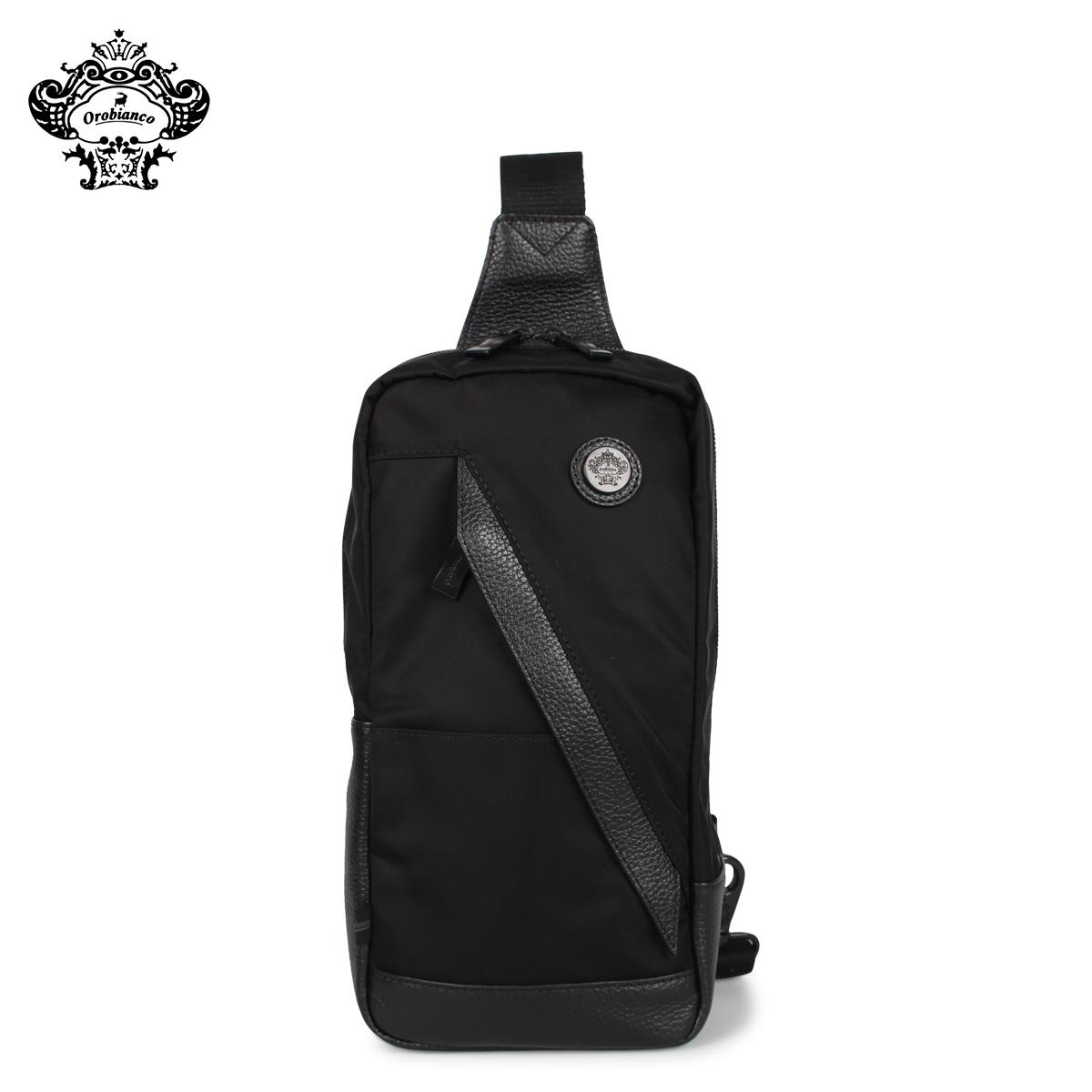 Orobianco オロビアンコ バッグ ボディバッグ ショルダーバッグ メンズ TRAVERSO S-G 01 ALL BLACK ブラック 黒 92197
