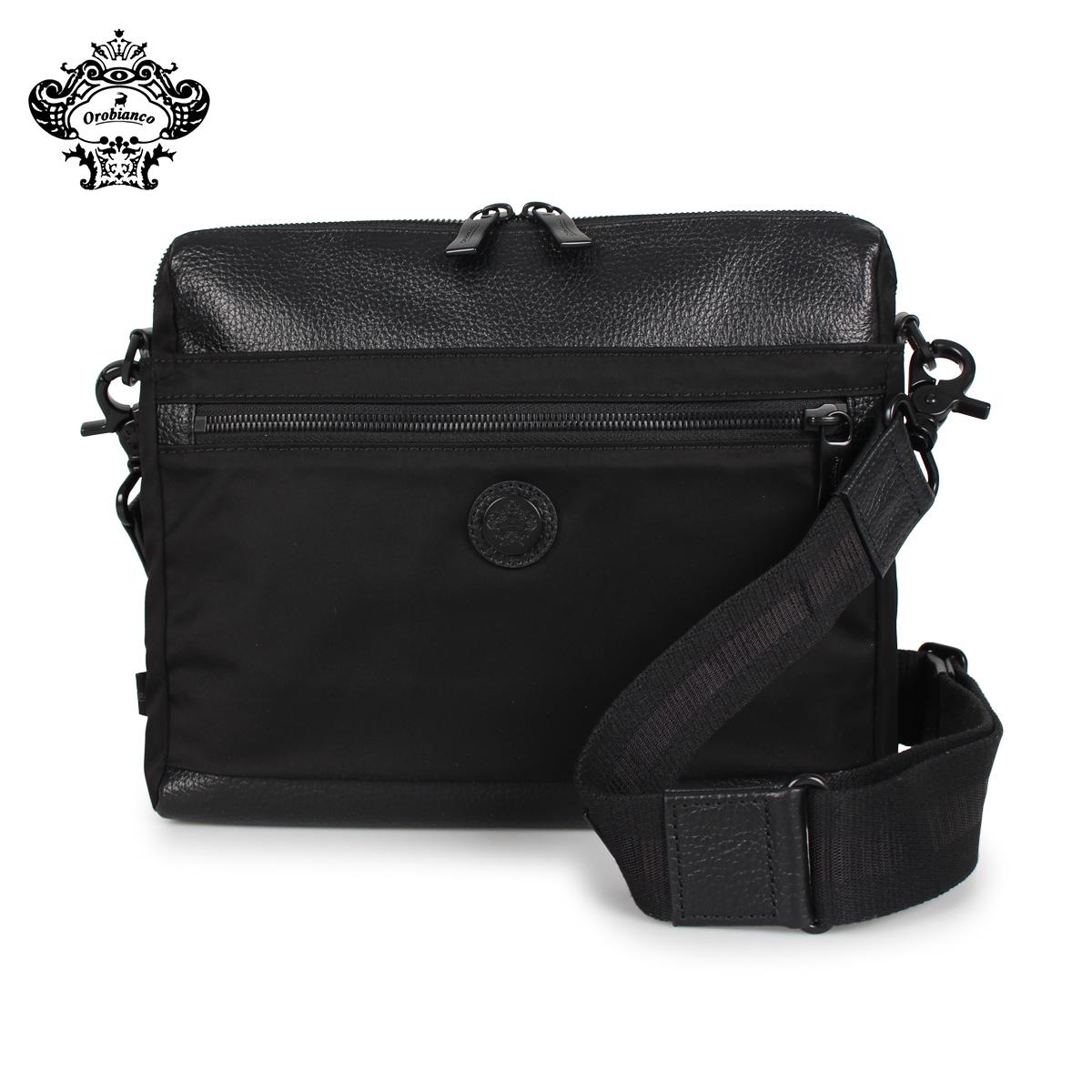 Orobianco オロビアンコ バッグ ショルダーバッグ メンズ SARANGINO-G 01 ALL BLACK ブラック 黒 92198