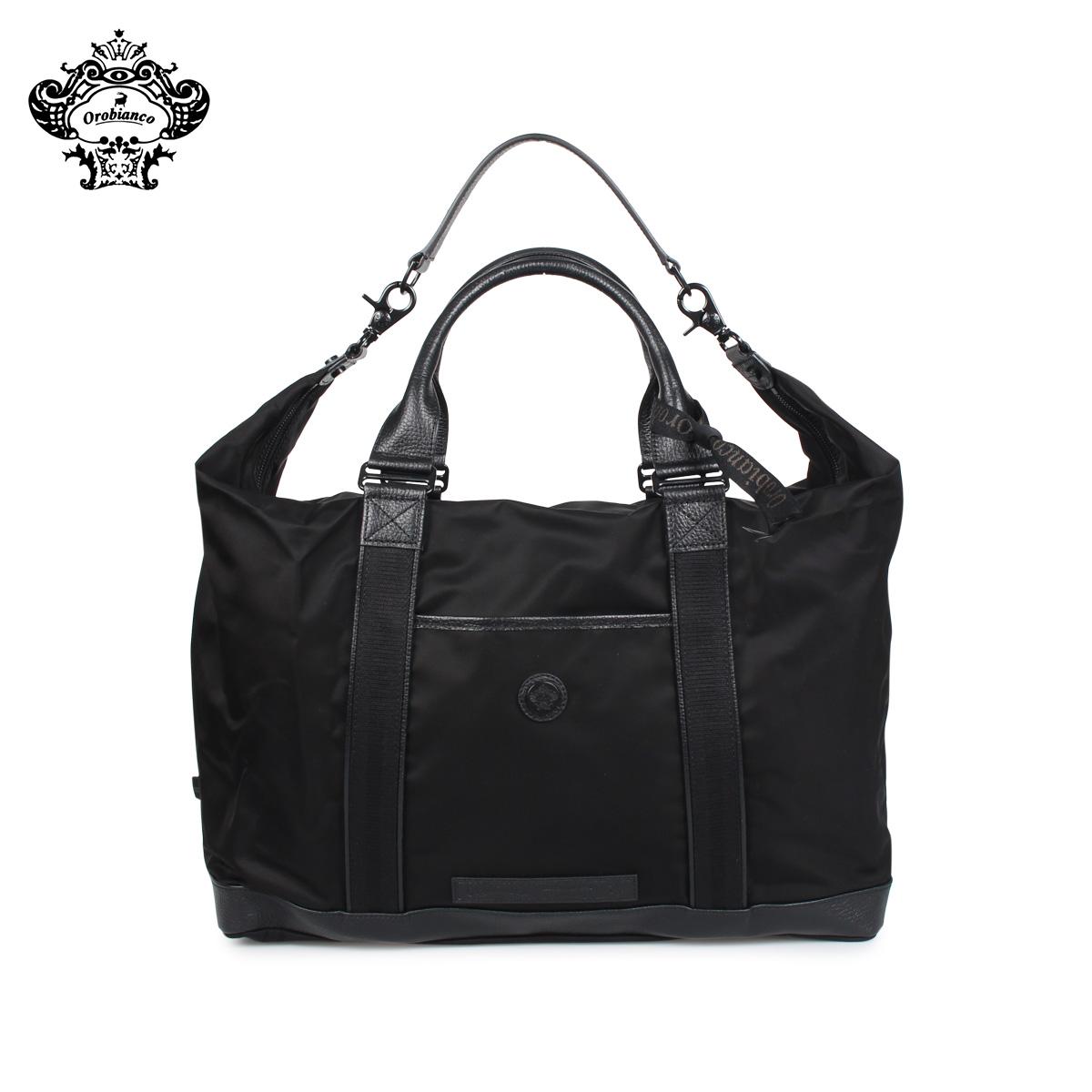 Orobianco オロビアンコ バッグ トートバッグ ダッフルバッグ ボストン メンズ KOMPLIMENTI-G ALL BLACK ブラック 黒 92199