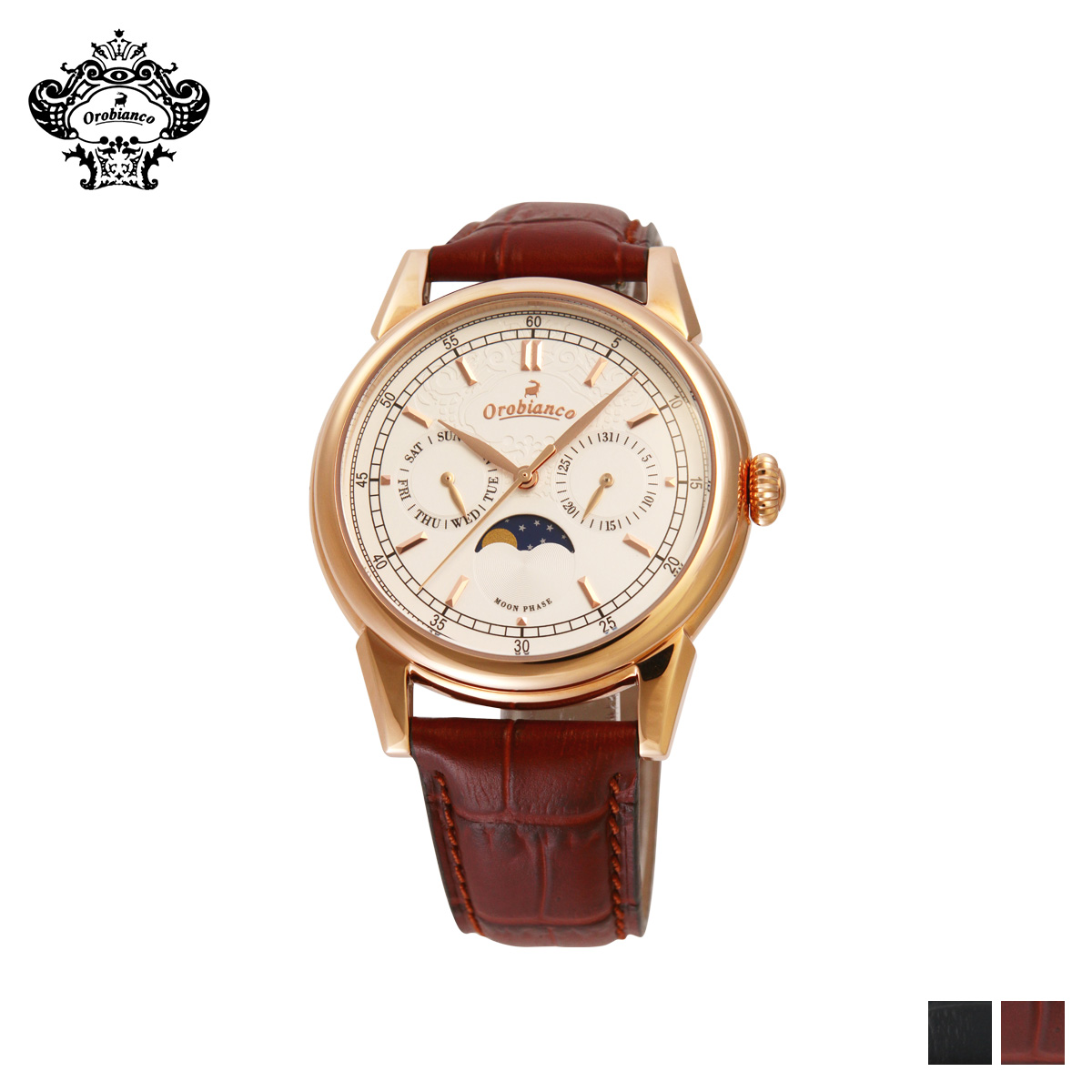 Orobianco オロビアンコ 時計 腕時計 メンズ クオーツ アナログ BIANCONERO ブラック ブラウン 黒 OR0074