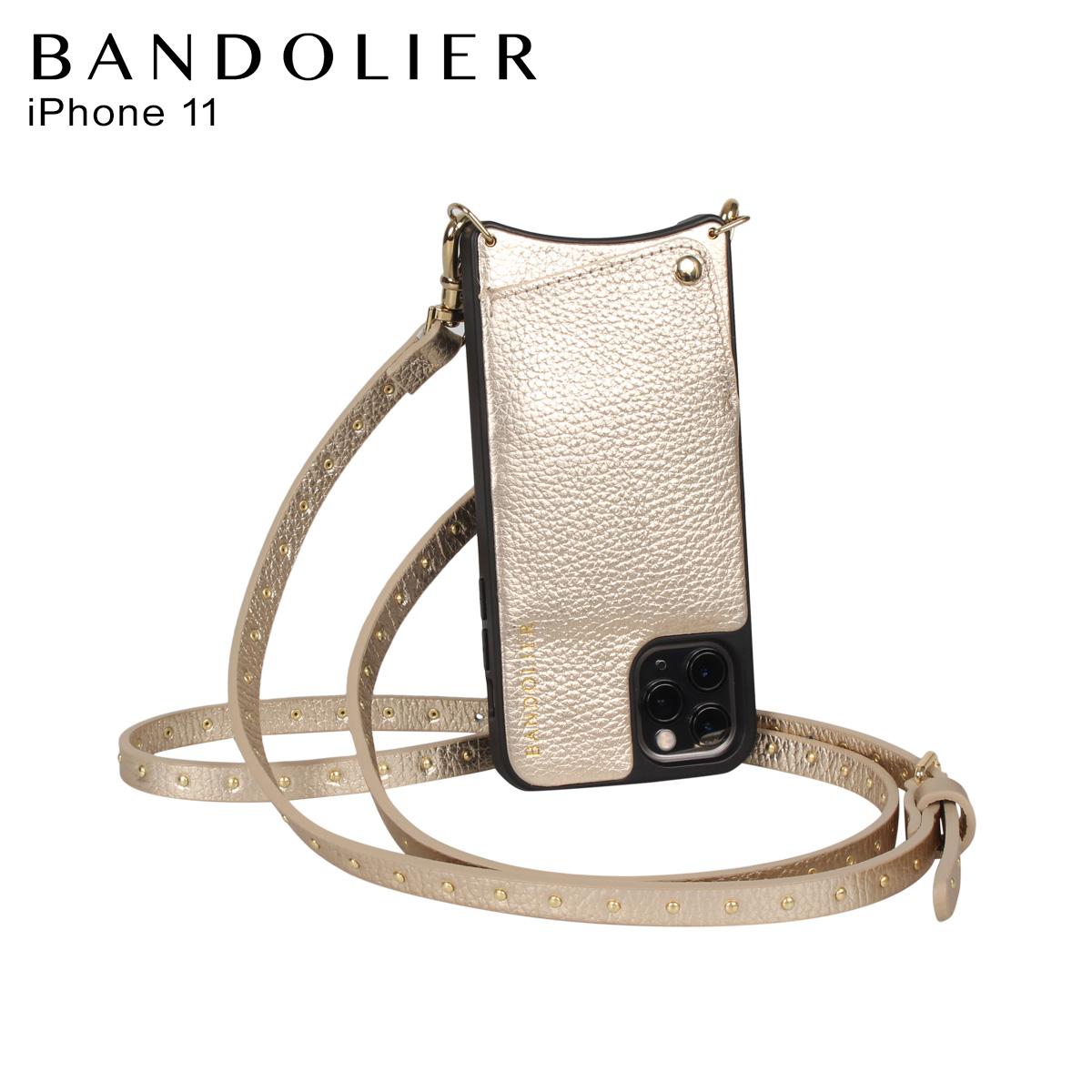 BANDOLIER バンドリヤー iPhone11 ケース スマホ 携帯 ショルダー アイフォン メンズ レディース レザー NICOLE RICH GOLD ゴールド 10NIC
