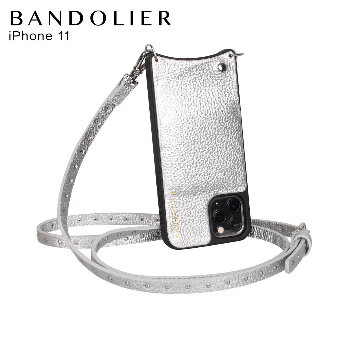 BANDOLIER バンドリヤー iPhone11 ケース スマホ 携帯 ショルダー アイフォン メンズ レディース レザー NICOLE RICH SILVER シルバー 10NIC