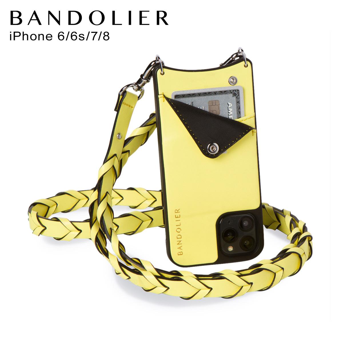 バンドリヤー BANDOLIER iPhone SE 8 7 6s 6 ケース スマホ 携帯 ショルダー アイフォン メンズ レディース レザー ZOEY YELLOW イエロー 10ZOE [4/10 再入荷]