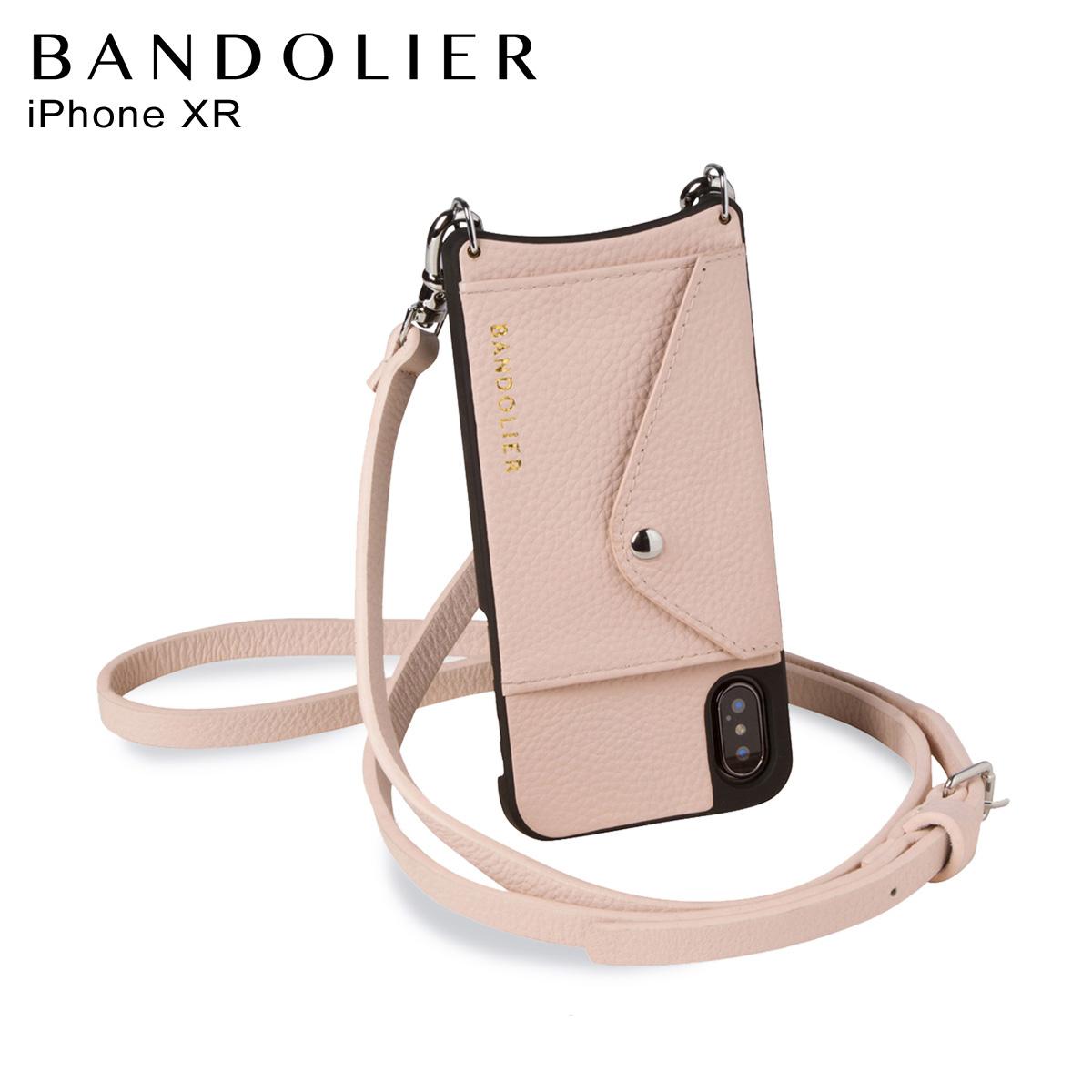BANDOLIER バンドリヤー iPhone XR ケース スマホ 携帯 ショルダー アイフォン メンズ レディース レザー DONNA SIDE SLOT PINK ピンク 14DON