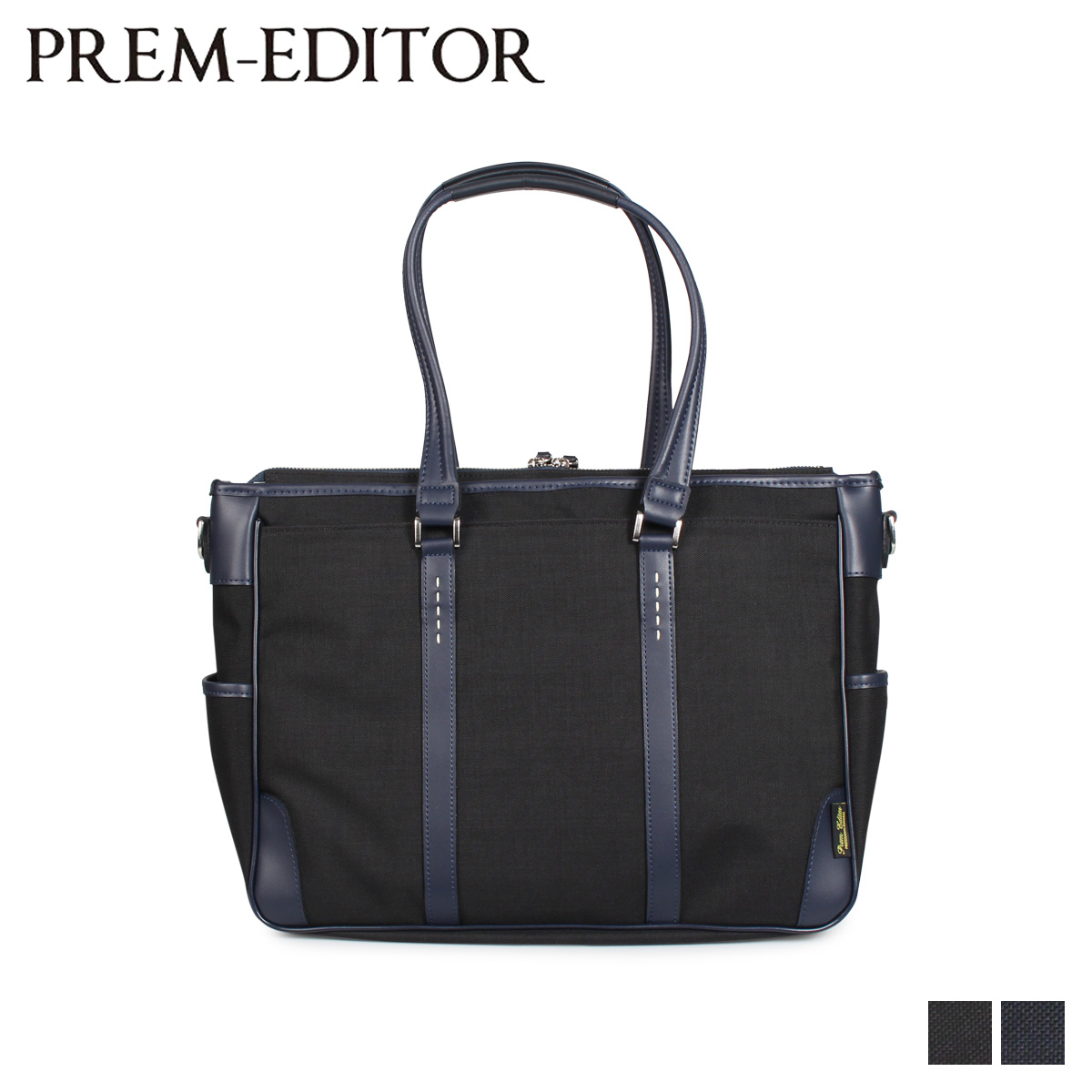 PREM-EDITOR プレム エディター バッグ トートバッグ ショルダーバッグ メンズ 13L TOTE BAG ブラック ネイビー 黒 02751