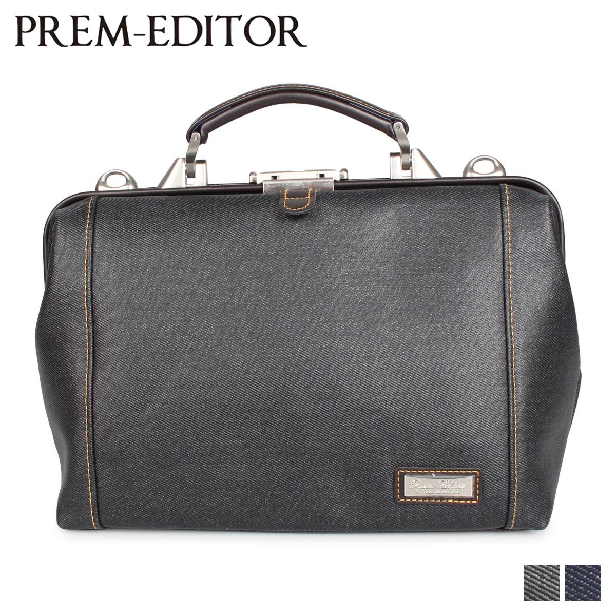 PREM-EDITOR プレム エディター バッグ ビジネスバッグ ショルダーバッグ メンズ 6L DULLES BAG ブラック ブルー 黒 02777