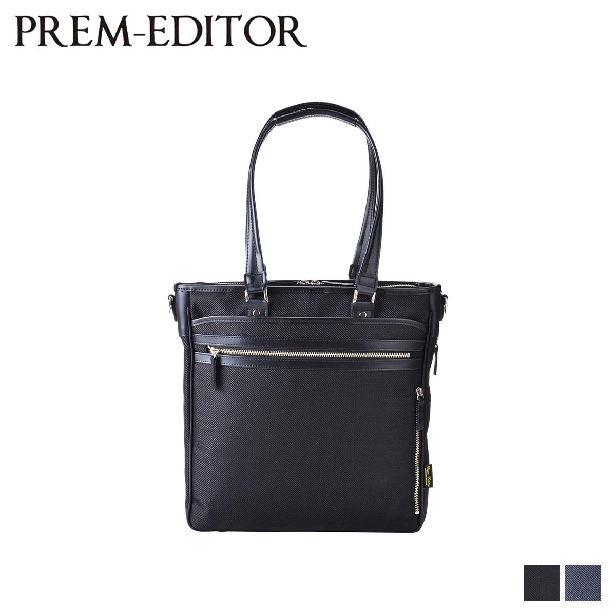 PREM-EDITOR プレム エディター バッグ トートバッグ ショルダー メンズ レディース ビジネス 縦型 2way TOTE BAG ブラック ネイビー 黒 2789