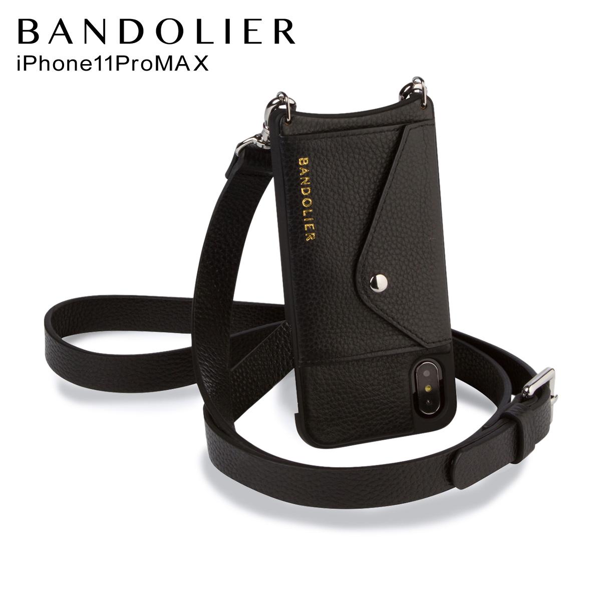 バンドリヤー BANDOLIER ヘイリー サイドスロット シルバー iPhone11 Pro MAX ケース スマホ 携帯 メンズ レディース HAILEY SIDE SLOT SILVER ブラック 黒 14HAI [3/18 新入荷]