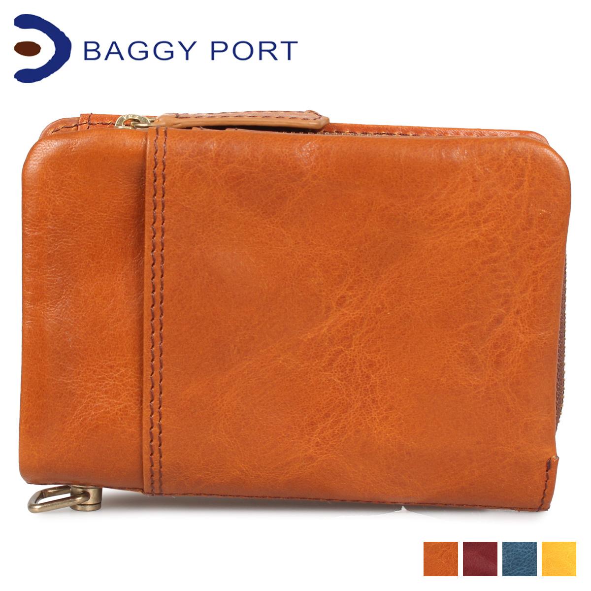 BAGGY PORT バギーポート 財布 二つ折り メンズラウンドファスナー UDO キャメル ブラウン ブルー イエロー HRD772 [4/7 新入荷]