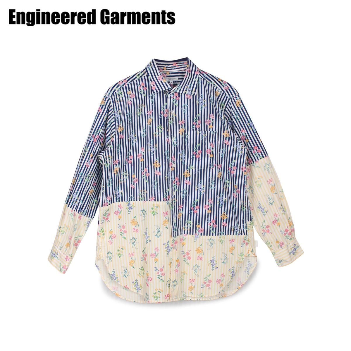 ENGINEERED GARMENTS エンジニアドガーメンツ シャツ 長袖 オックスフォードシャツ メンズ SPREAD COLLAR SHIRT ネイビー 20S1A013